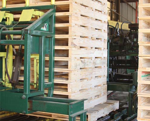machine built pallets