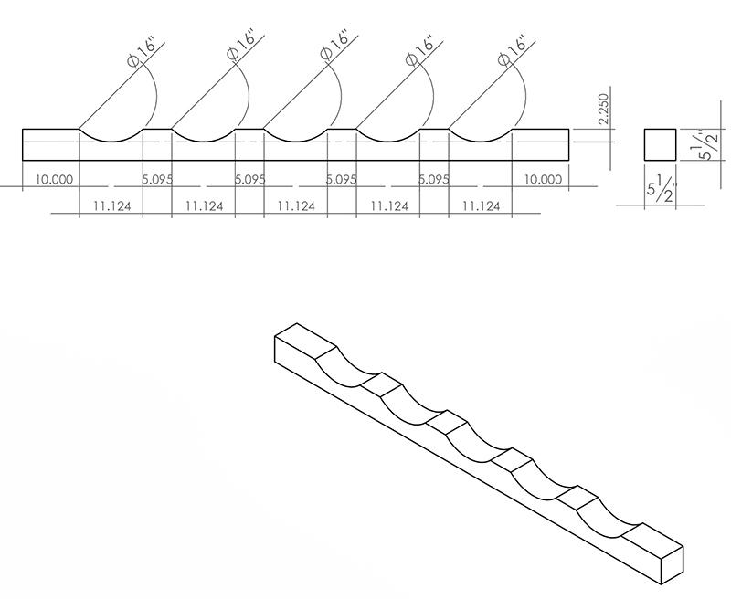 Industrial wood bracing
