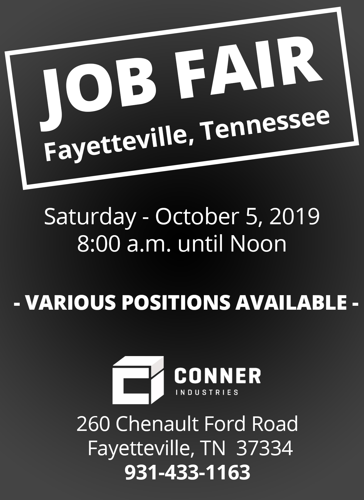 Fayetteville, TN Job Fair