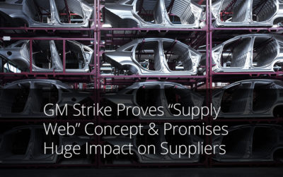 GM strike supply web supply chain