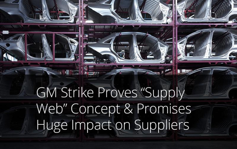 GM strike supply web supply chain