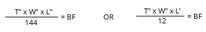 calculating board foot